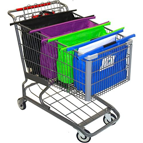 The Original CartBagz | Shopping Cart Trolley Bags | Sized for USA & CANADA | With insulated front blue bag! | Even works...