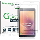 amFilm Galaxy Tab A 8.0 2017 Screen Protector Glass 2 Pack, (for SM-T380) Tempered Glass Screen Protector for New Samsung Tab A 8.0 inch 2017 (Version with Speaker on Top)(SM-T380) 0.33mm 2.5D 2 Pack
