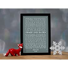 Brad Paisley 'Then' - Contemporary Typography Song Words Print Framed & Personalised - Special Song Gift Perfect for Him, Her or Couple