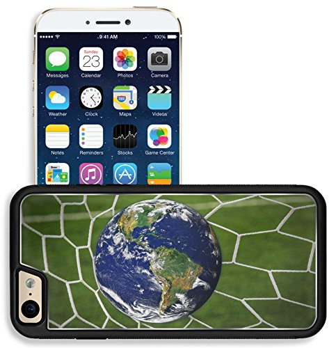 Liili Apple Iphone 6 Iphone 6S Aluminum Backplate Bumper Snap Iphone6 6S Case Iphone6 Image Id  16215494 Earth Globe In Goal Net With Green Grass Field