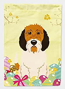 Garden Flag Easter Eggs Petit Basset Griffon Veenden Decorative Christmas Flags for House Double Sides Outdoor Welcome Flag