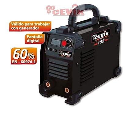 Cevik CE-PRO155 - Equipo de Soldadura 120 A. 60_% Electrodos de 1,6 ...