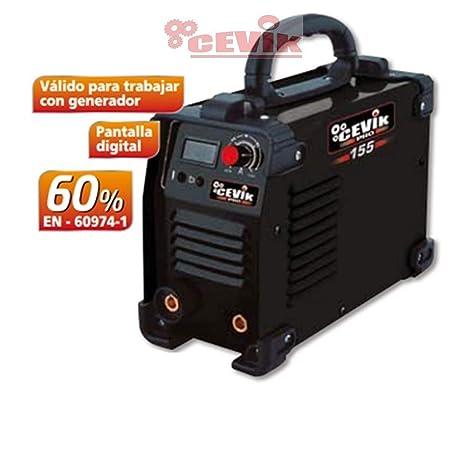 Cevik CE-PRO155 - Equipo de Soldadura 120 A. 60_% Electrodos de 1