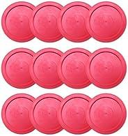 Brybelly One Dozen Air Hockey Pucks, 2.5-Inch