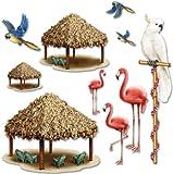 DDI 526723 Tiki Hut Tropical Bird Props Case of 12