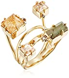 Alexis Bittar Geometric Multi Stone with Satellite Crystal Detail Ring