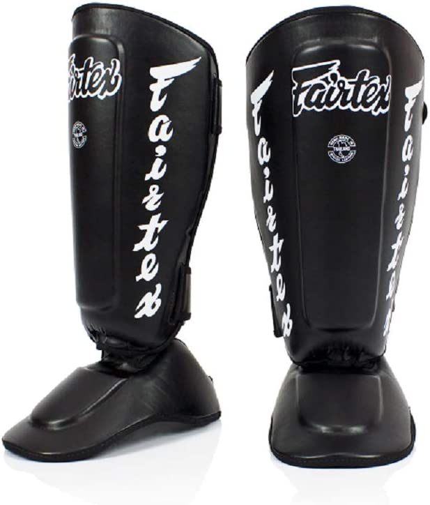Black White Red Blue Yellow Size Fairtex Muay Thai Boxing MMA Shin Guards SP7 Twister Detachable In Step Shin Pads Color Medium Large Xlarge