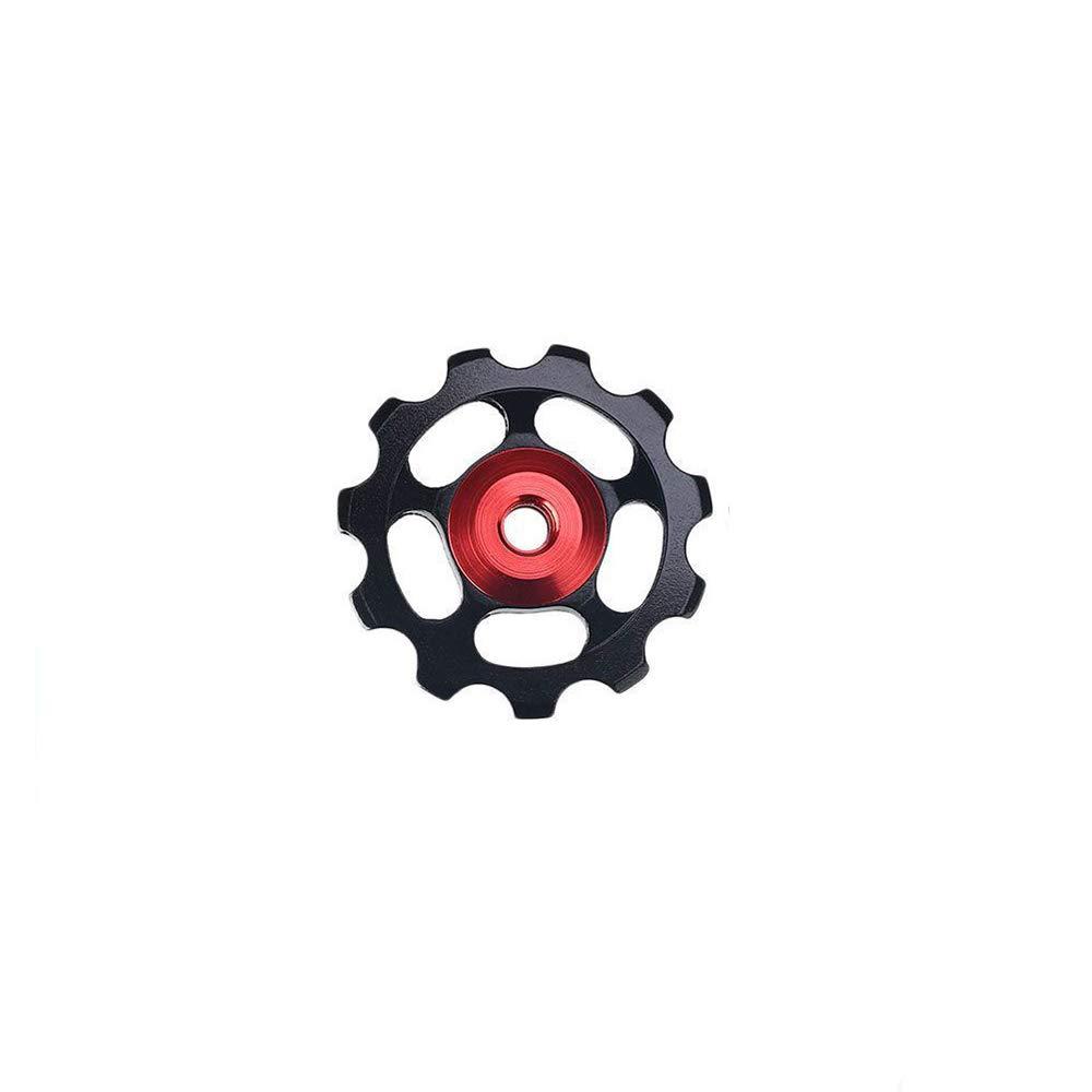 Heart Service Bike 11T Aluminum Sealed Bearing Jockey Wheel Bicycle Guide Wheel Rear Derailleur Pulleys Black