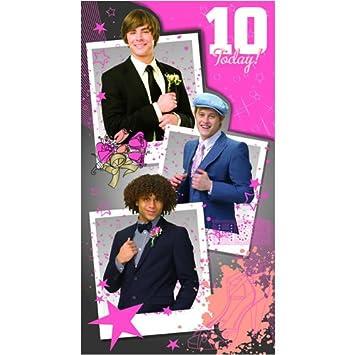 High School Musical Birthday Card Age 10 Hs052 Amazon Toys