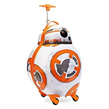 Disney Store Star Wars BB-8 Hard Shell Rolling Luggage Case/Carry-On Suitcase