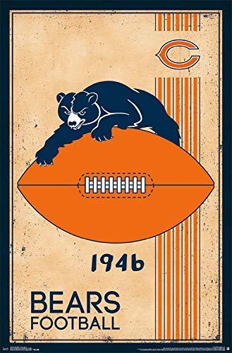 - Chicago Bears Poster 22 x 34 Retro Logo