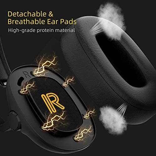 SENZER SG500 Surround Sound Pro Gaming Headset with Noise Cancelling Microphone - Detachable Memory Foam Ear Pads - Portable Foldable Headphones for PC, PS4, Xbox One, Switch