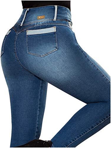 Laty Rose 2016 Jeans Colombianos Levanta Cola Blue Denim Butt Lifter Jeans  Light Blue 1 (Denim Lift Butt)