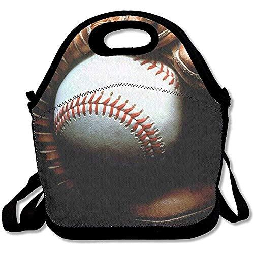 000000 Lunch Tote - Baseball Wallpaper Waterproof Reusable Lunch Tote Bag Men Women Adults Kids Toddler Nurses Adjustable Shoulder Strap - Best Travel Bag Handbag for School Office