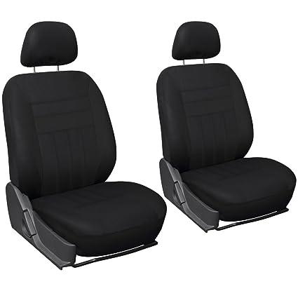 Solid Beige Oxgord Flat Cloth Bucket Seat Cover Set for Car//Truck//Van//SUV