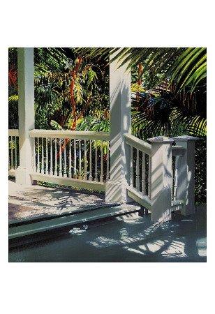 (Small Glittering Porch Art Print Art Poster Print by Alice Dalton Brown, 13x19)