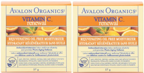 Small 2 Oz Heart Bottle - Renew Avalon Vitamin C Rejuvenating Oil-Free Moisturizer, 2-Ounce Bottle (Pack of 2)