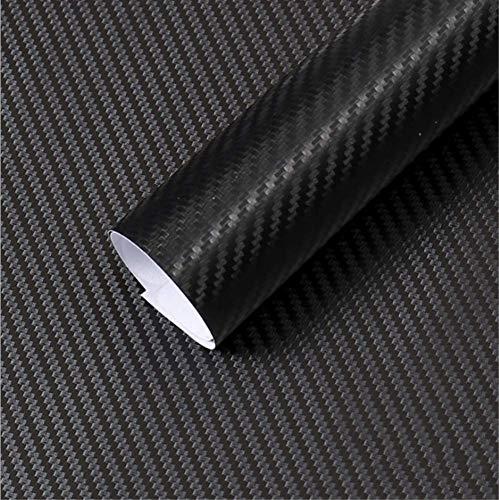 Textured Weaves Wallpaper - Yija 3D Black Carbon Fiber Car Wrap Film Twill Weave Vinyl Roll Self-Adhesive Sticker 16.6inch by 98inch