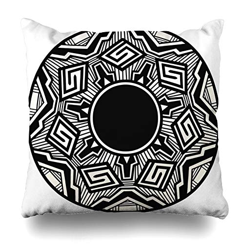 (Ahawoso Throw Pillow Cover Square 18x18 Inches Native Acoma Pottery Painting Abstract Arizona American Indian Pueblo Pot Cushion Case Home Decor Pillowcase)