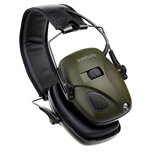 Electronic Hearing Muffs (Electronic Shooting Earmuff, Awesafe GF01 Noise Reduction Sound Amplification Electronic Safety Ear Muffs, Ear Protection, NRR 22 dB, Ideal for Shooting and Hunting)