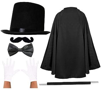 ILOVEFANCYDRESS Disfraz de Mago Adulto con Sombrero de ...