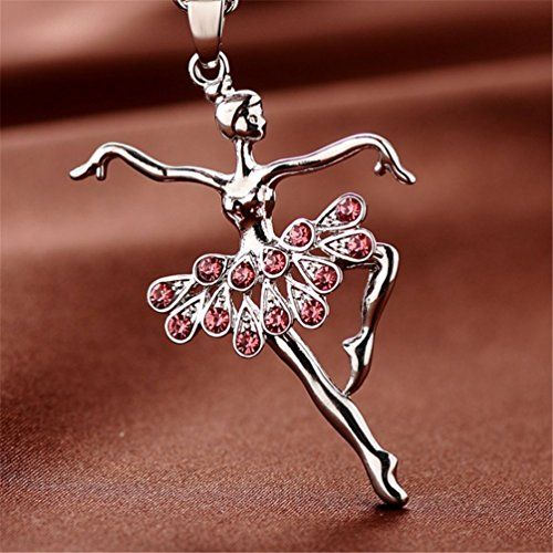 664a6b16c177 Jual XIAOLI Little Girl Necklace Dancer Ballet Recital Gift ...