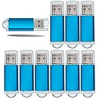 10x USB 3.0 16GB USB Flash Drive Fashion Metal 3.0 Memory Stick Sky Blue 3.0 Thumb Drive Great for Gift - FEBNISCTE