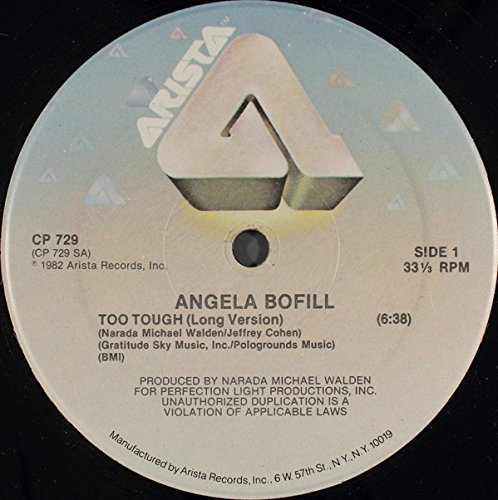 "Price comparison product image Angela Bofill: Too Tough 12"" VG++ / NM USA Arista CP 729"