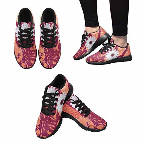 Interessante Donna Da Jogging Corsa Sneaker Leggero Andare Facilmente A Piedi Comfort Sportivo Scarpe Da Ginnastica Vintage Teschio, Fiori, Farfalle E Libellule Multi 1