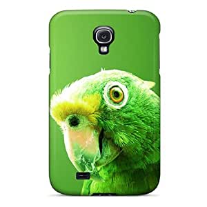 MvmeiCM7028vydGm Mialisabblake Awesome Case Cover Compatible With Galaxy S4 - Green Parrot