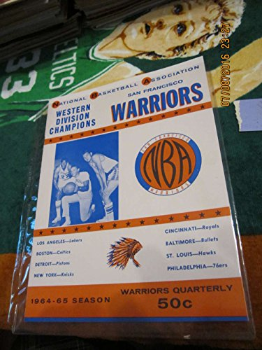 (1964 NBA Warriors vs Lakers Basketball Program amp; 4 ticket Wilt chamberlain)
