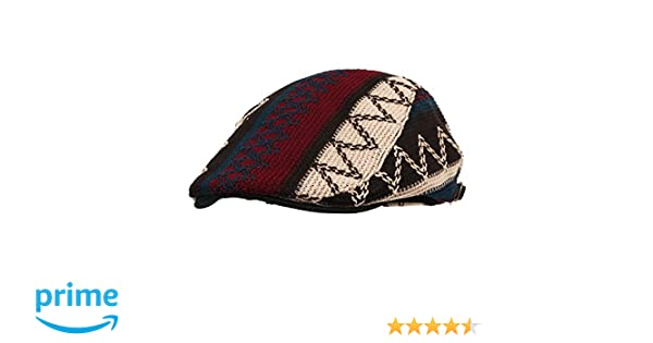 64e71b12e39 WITHMOONS Aztec Tribal Pattern Knitted Newsboy Hat Flat Cap LD3030 (Black)  at Amazon Men s Clothing store