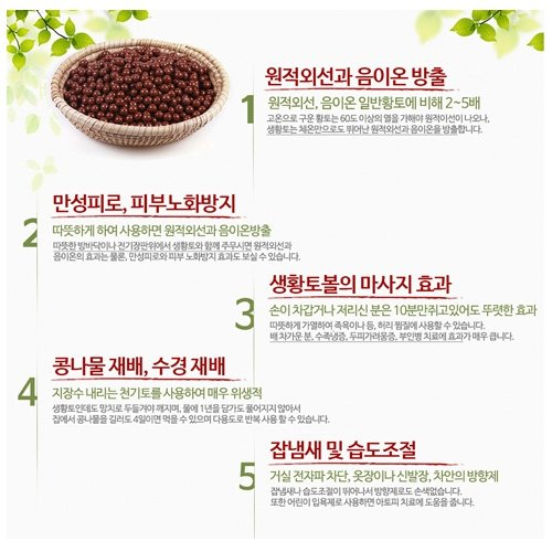 Phytoncide Village Patented Natural Raw Red Clay Ball Far Infrared Radiation & Anions, Massage Anti-Aging Humidity Control by Phytoncide Village (Image #7)