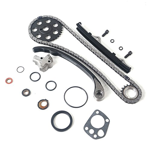 (MOCA Timing Chain Kit with Gasket & Oil Seal for 1989-1997 Nissan Pickup 240SX D21 Stanza KA24E Engine 2.4L L4 SOHC 12V)