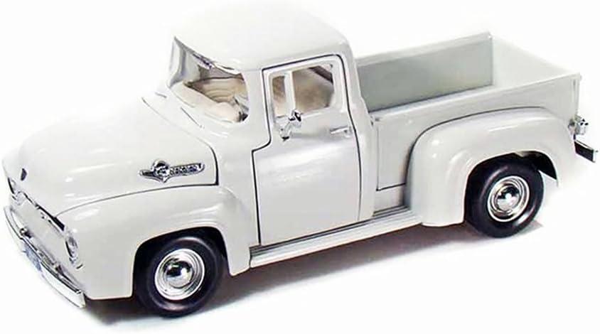 Ford F100 Pick-Up 1956 White Beige Flatbed Oldtimer 1//24 Motormax Model Car