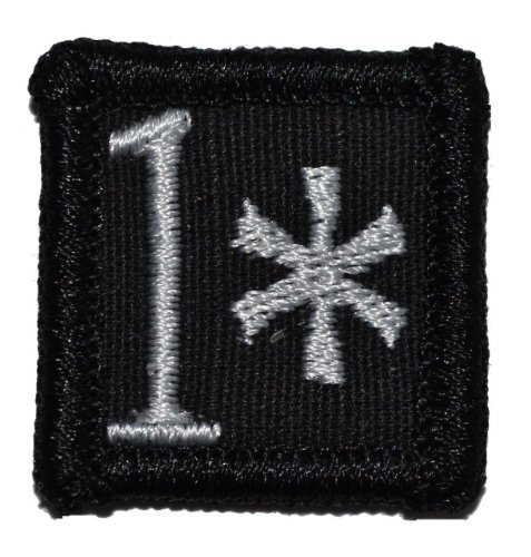 1 One Ass to Risk 1x1 inch Morale Patch - Black
