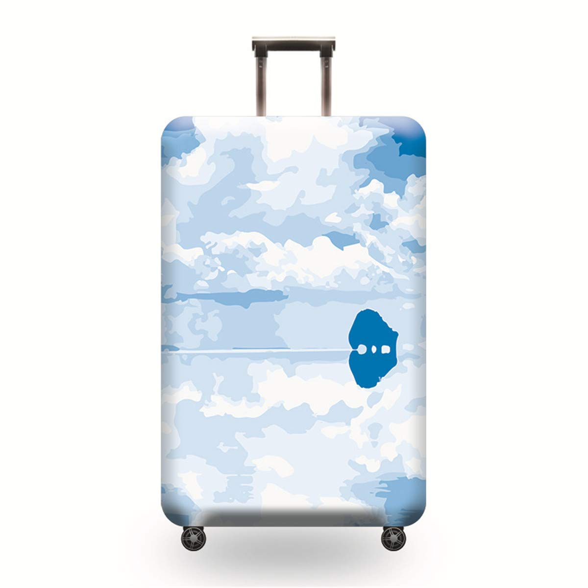 TICKRAN Luggage Cover Personalized Protective Durable Washable Suitcase Protector Size Fits 18-32 Inches,12,XL