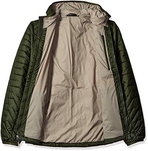 Under Armour hombres Coldgear Reactor con capucha de la chaqueta Artillery Green/Stoneleigh Taupe
