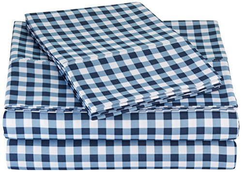 AmazonBasics Microfiber Sheet Set Gingham