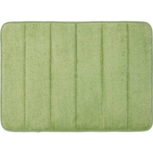Mohawk Velvet Rug - Mohawk Home Memory Foam Bath Rug, 17-Inch by 24-Inch, Sage