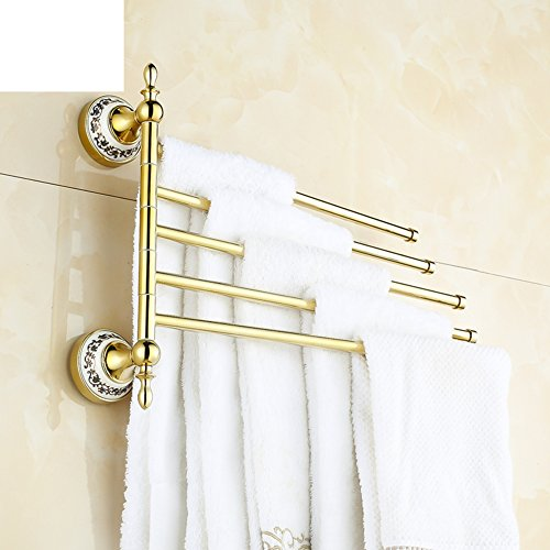 50%OFF Continental blue and white porcelain Towel Bar/Move the towel rack/Towel shelf/Golden towel racks