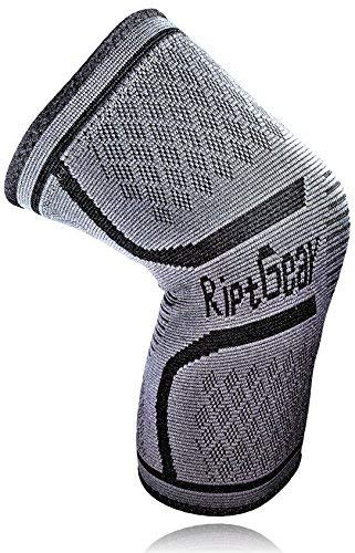 (RiptGear Compression Knee Sleeve - Knee Brace for Arthritis, Patella Stabilizer, Meniscus Tear, Joint Pain Relief & Recovery, Volleyball, Running, Football, Basketball - Small)
