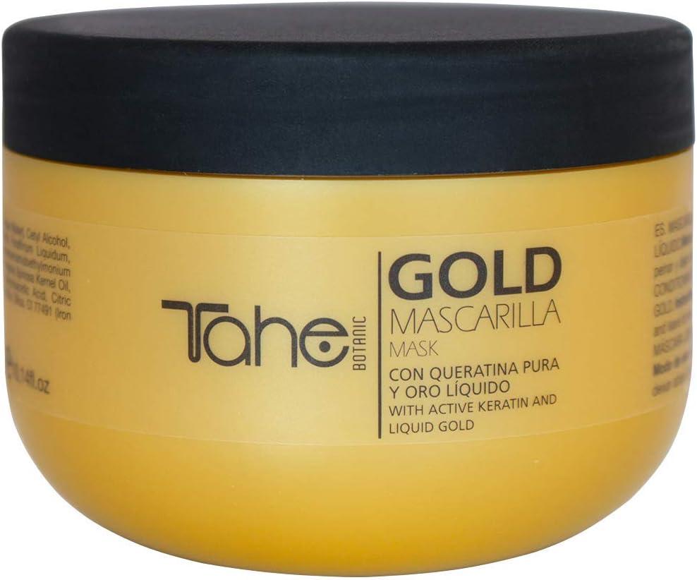 Tahe 12073131 Botanic Mascarilla Capilar/Mascarilla Regeneradora para Pelo con Queratina Pura y Oro Líquido, 300 ml