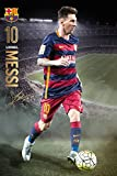 FC Barcelona - Sports / Soccer Poster / Print (Lionel Messi In Action) (Size: 24