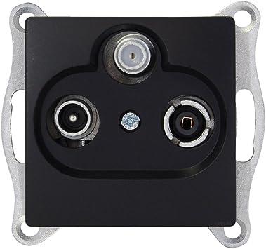 Gunsan Visage - Interruptor de programación para antena de satélite y televisión, color negro
