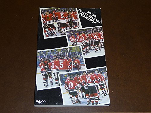 (1989 1990 CHICAGO BLACK HAWKS HOCKEY MEDIA GUIDE YEARBOOK EX-MINT)