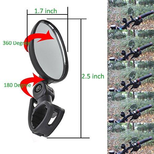 EEEKit 2 Produkte Bundle Universal Mini rotaty Rückfahrkamera Lenker Glas Spiegel für Bike Fahrrad