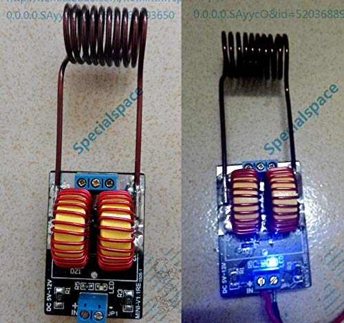 DP-iot dc 5 v ~ 12 v ZVS Induction Heating Power Supply Module Tesla Jacob's Ladder + Coil