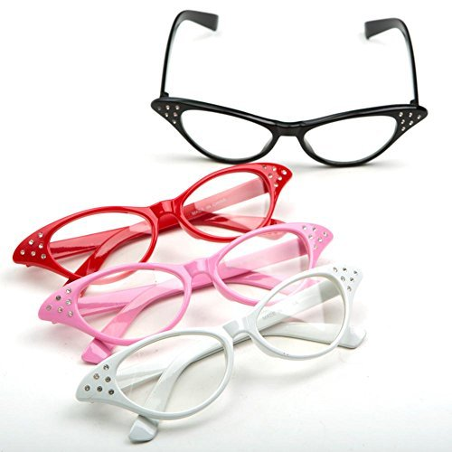 Cateye Glasses, 1 Pair, Colors May Vary -