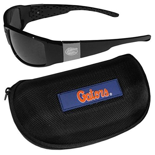 (NCAA Florida Gators Chrome Wrap Sunglasses & Zippered Carrying Case)